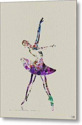 Beautiful Ballerina Metal Print by Naxart Studio