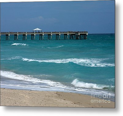 Beautiful Day At The Beach Metal Print by Sabrina L Ryan