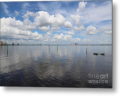 Beautiful Day In Tampa Metal Print by Carol Groenen
