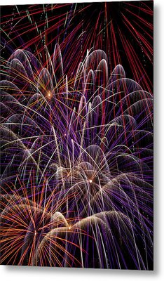 Beautiful Fireworks Metal Print by Garry Gay