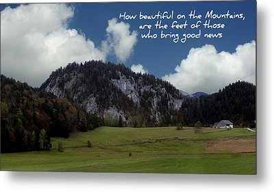 Beautiful Mountains Metal Print by Cecil Fuselier