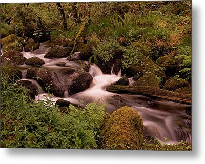 Becky Falls On Dartmoor's National Park Metal Print by Jay Lethbridge