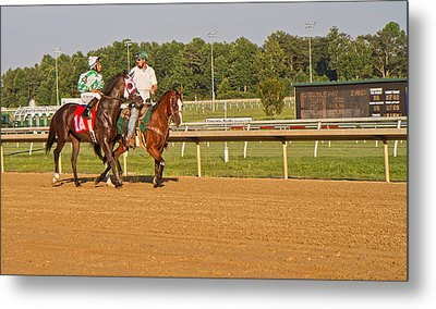 Before The Race Metal Print by Betsy C Knapp