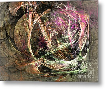 Before The Seizure - Abstract Art Metal Print by Abstract art prints by Sipo