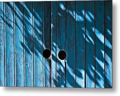 Behind  Blue Doors Metal Print by Tal Richter