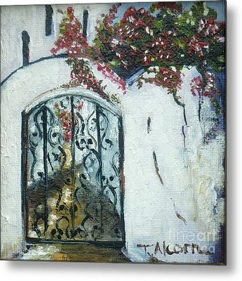 Behind The Iron Gate Metal Print by Therese Alcorn