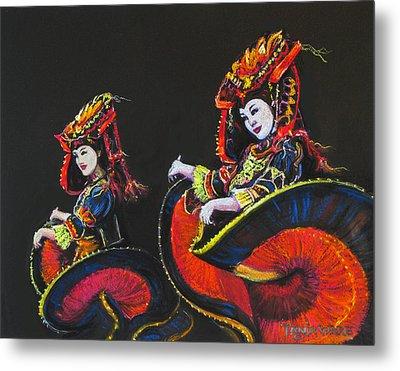 Bejing Beauties Metal Print by Tanja Ware