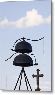 Bells And Cross Metal Print by Jeremy Woodhouse