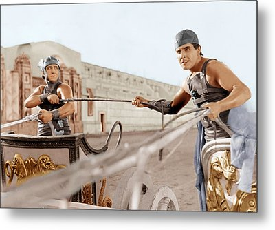 Ben-hur, From Left Francis X. Bushman Metal Print by Everett