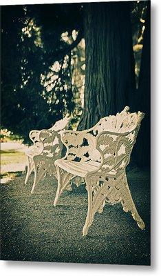 Benches Metal Print by Joana Kruse