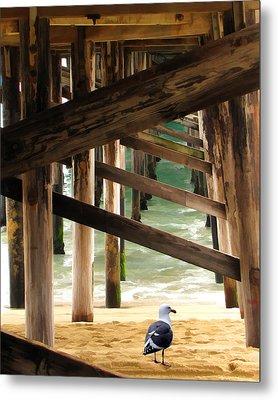 Beneath The Pier Metal Print by Diane Wood