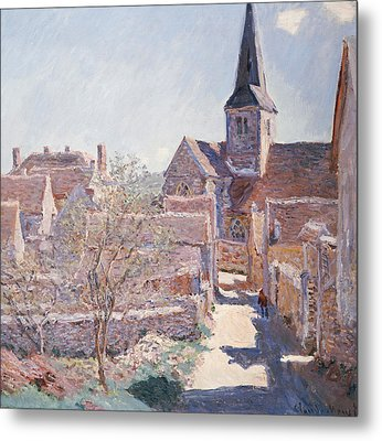 Bennecourt Metal Print by Claude Monet