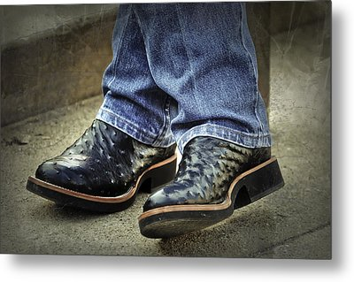 Bennys Boots Metal Print by Joan Carroll