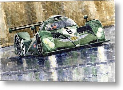 Bentley Prototype Exp Speed 8 Le Mans Racer Car 2001 Metal Print by Yuriy  Shevchuk