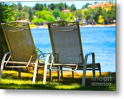 Best Seats On The Island 2 Metal Print by Cheryl Young