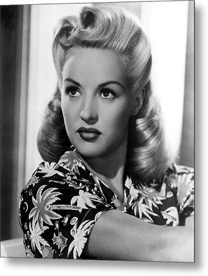 Betty Grable, 20th Century-fox, 1940s Metal Print by Everett