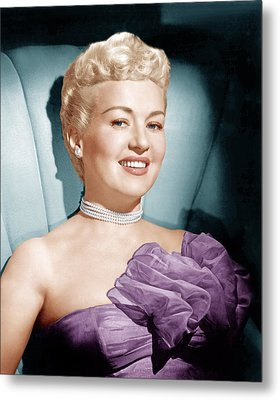 Betty Grable, Ca. 1950s Metal Print by Everett