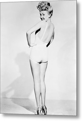 Betty Grable, World War II Pin-up Metal Print by Everett
