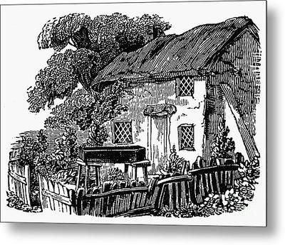Bewick: Rural House Metal Print by Granger