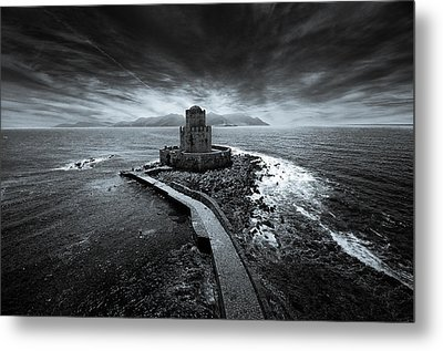 Beyond The Sea There Is A Small Prison Metal Print by Stavros Argyropoulos