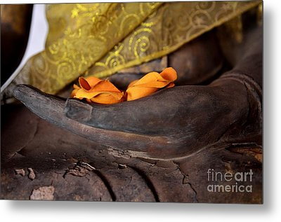 Bhumisparsa Mudra II In Colour Metal Print by Dean Harte