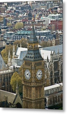 Big Ben Up Close And Personal Metal Print by Douglas Barnett