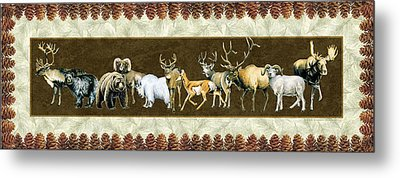 Big Game Lodge Metal Print by JQ Licensing
