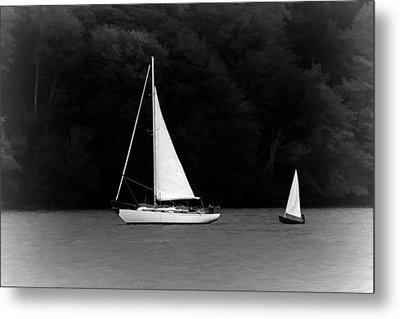 Big Sailboat Little Sailboat Metal Print by Tracie Kaska