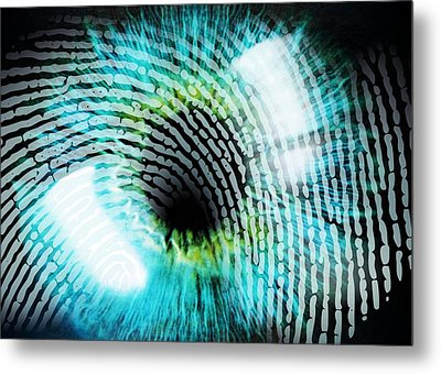 Biometric Identification Metal Print by Pasieka