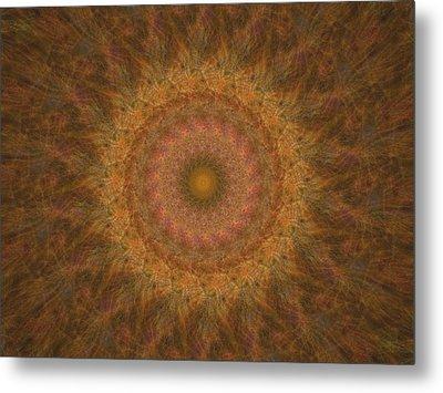 Birthing Mandala 18 Metal Print by Rhonda Barrett