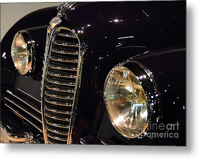 Black 1948 Delahaye . Grille View Metal Print by Wingsdomain Art and Photography
