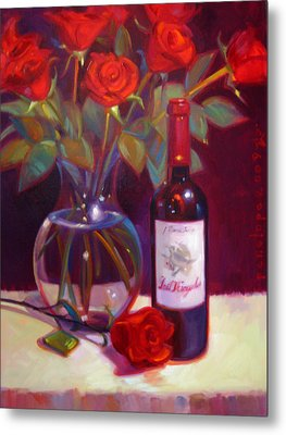 Black Cherry Bouquet Metal Print by Penelope Moore