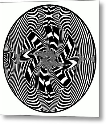Black Flower Metal Print by Visual Artist  Frank Bonilla