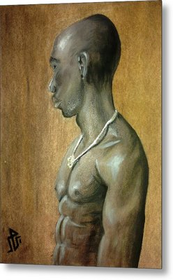 Black Man Metal Print by Baraa Absi
