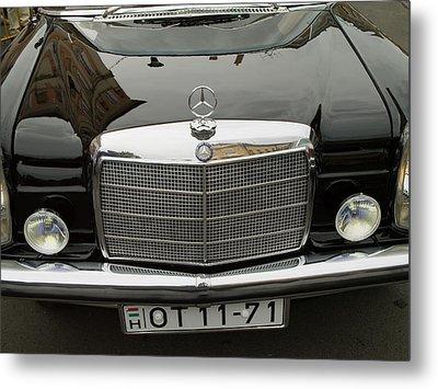 Black Mercedes Logo Metal Print by Odon Czintos
