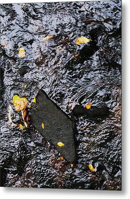 Black Rock At Graue Mill Metal Print by Todd Sherlock