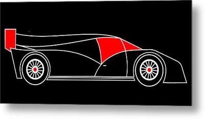 Black Rocket Racing Car Virtual Car Metal Print by Asbjorn Lonvig
