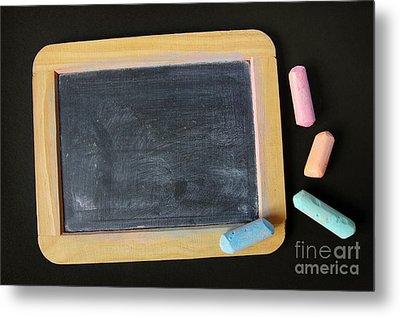 Blackboard Chalk Metal Print by Carlos Caetano