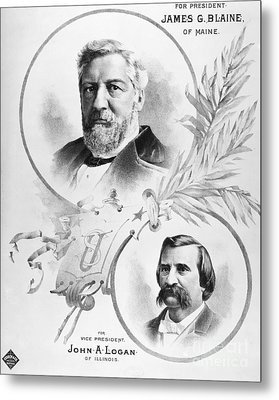 Blaine: Election Of 1884 Metal Print by Granger