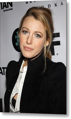Blake Lively At Arrivals For You Know Metal Print by Everett