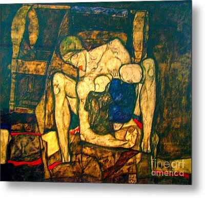 Blind Mother By Egon Schiele Metal Print by Pg Reproductions