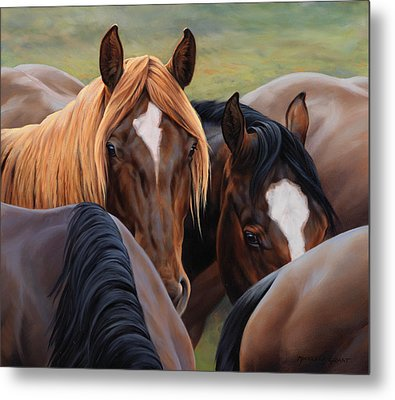 Blonde Moment Metal Print by JQ Licensing