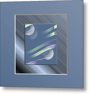 Blue  And Stripes Metal Print by Ines Garay-Colomba