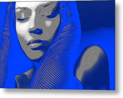 Blue Beauty Metal Print by Naxart Studio