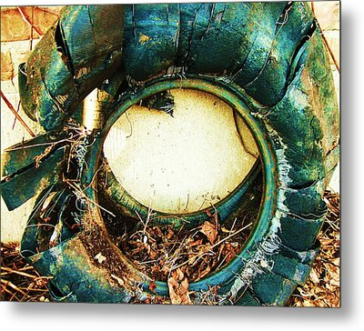 Blue Blow Out Metal Print by Todd Sherlock