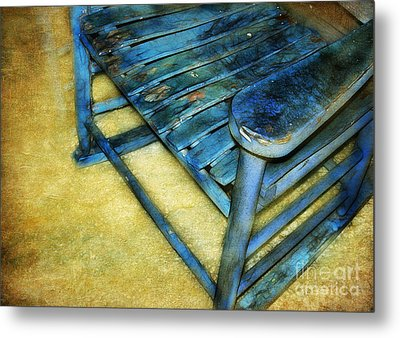 Blue Chair Metal Print by Judi Bagwell