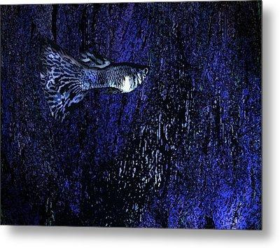 Blue Fish Art Metal Print by Mario  Perez