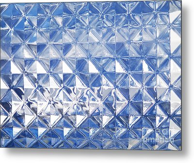 Blue Glass Texture Metal Print by Blink Images