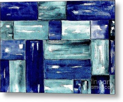 Blue Green Blue Metal Print by Marsha Heiken