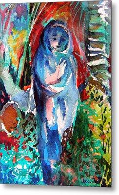 Blue Madonna Metal Print by Mindy Newman